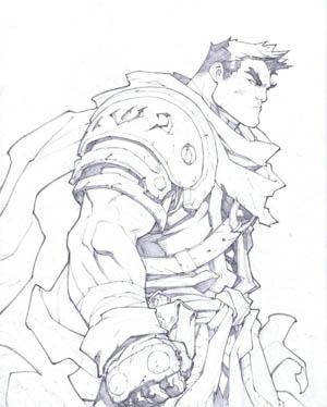 Battle Chasers Nightwar in-game Garrison Portrait (Pencil)