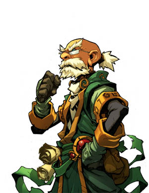 Battle Chasers Nightwar in-game Knolan Portrait (Color)