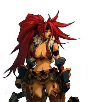 Battle Chasers Nightwar Red Monika game Portrait (Color)