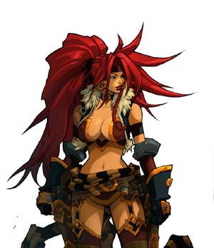 Battle Chasers Nightwar Red Monika game Portrait