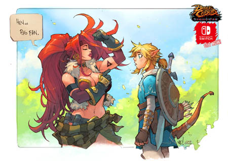 Battle Chasers NightWar Nintendo Switch launch fan art