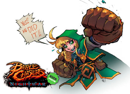 Battle Chasers NightWar special thank you for kickstarter backers