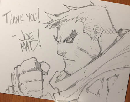 Battle Chasers NightWar Garrison thank you sketch card