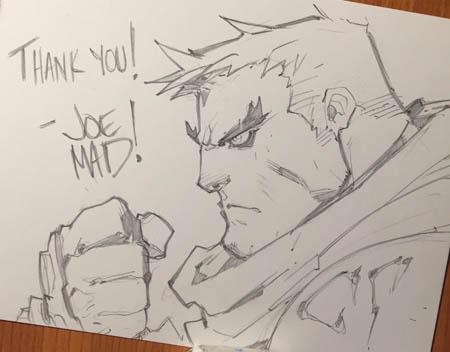 Battle Chasers NightWar Garrison thank you sketch card