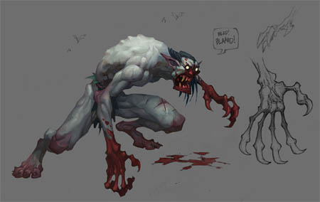 Battle Chasers NightWar Vampire Ghoul concept art (Color)