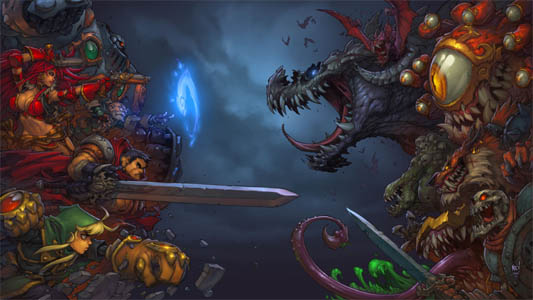 Battle Chasers Nightwar game main promotional art (Color)