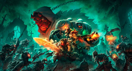 Battle Chasers Nightwar key art 2 wallpaper variants