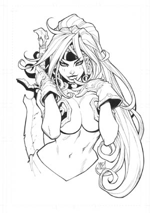 NYCC 2013 Red Monika print #1 (Ink)