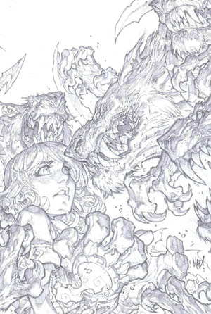 Battle Chasers Anthology comic cover (Pencil)