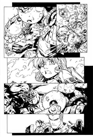 Battle Chasers comic #5 page 4 (Ink)
