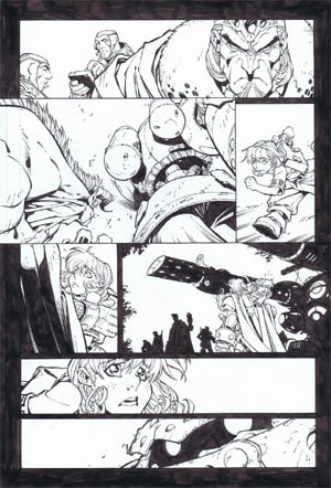 Battle Chasers comic #5 page 5 (Ink)