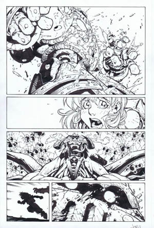 Battle Chasers comic #5 page 6 (Ink)