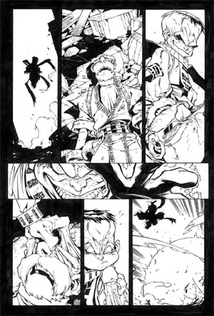 Battle Chasers comic #5 page 9 (Ink)