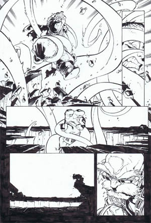 Battle Chasers comic #5 page 11 (Ink)