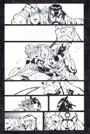Battle Chasers comic #5 page 14 (Ink)