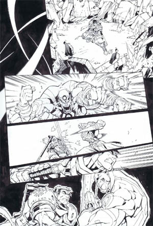 Battle Chasers comic #5 page 17 (Ink)