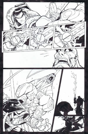 Battle Chasers comic #5 page 18 (Ink)