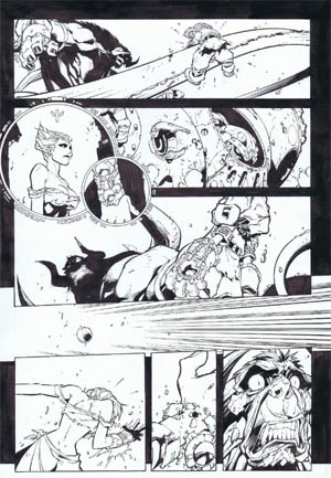 Battle Chasers comic #5 page 20 (Ink)