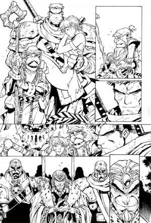 Battle Chasers comic #5 page 22 (Ink)