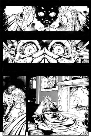 Battle Chasers comic #1 page 1 (Ink)