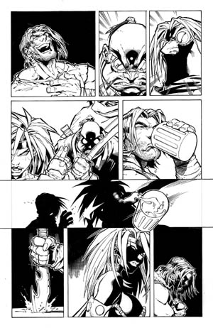 Battle Chasers comic #1 page 16 (Ink)
