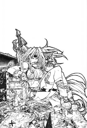 Battle Chasers #10 unreleased cover (Ink)