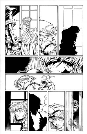 Battle Chasers comic #2 page 18 (Ink)