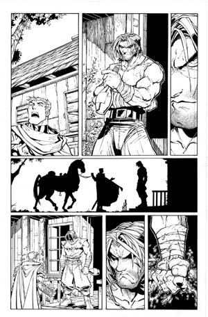 Battle Chasers comic #2 page 2 (Ink)