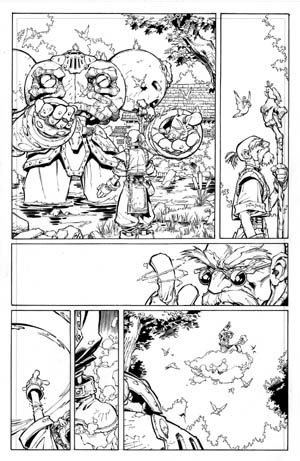 Battle Chasers comic #2 page 5 (Ink)