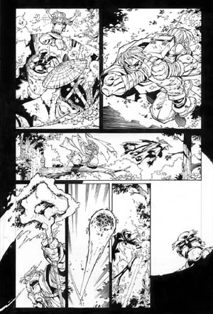 Battle Chasers comic #3 page 19 (Ink)