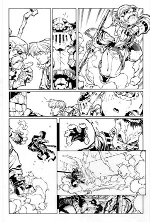 Battle Chasers comic #4 page 17 (Ink)