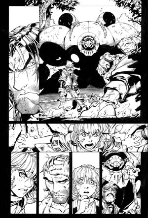 Battle Chasers comic #4 page 6 (Ink)
