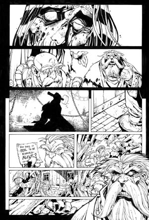 Battle Chasers comic #6 page 3 (Ink)