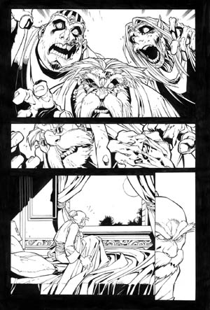 Battle Chasers comic #6 page 4 (Ink)