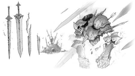 Battle Chasers Nightwar Blade fiend concept art