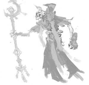Battle Chasers Nightwar lich concept art
