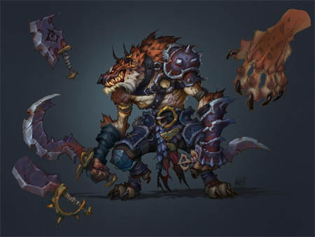 Lycelot concept art for Battle Chasers Nightwar game (Color)