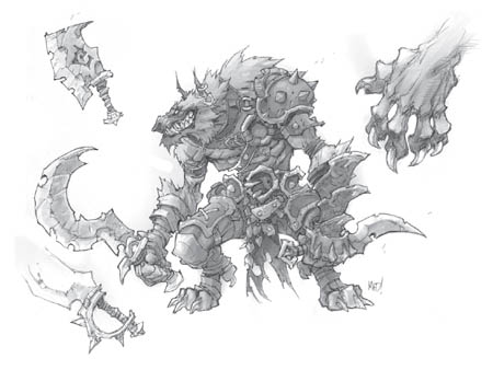 Lycelot concept art for Battle Chasers Nightwar game (Other)
