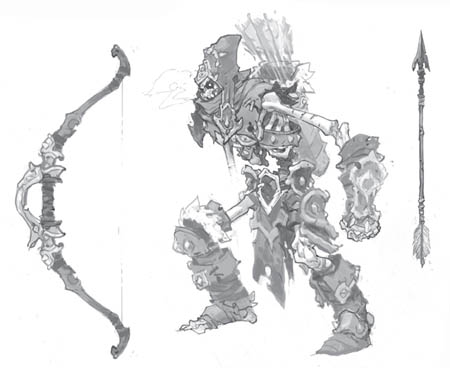 Battle Chasers Nightwar Rattlebone Archer concept art
