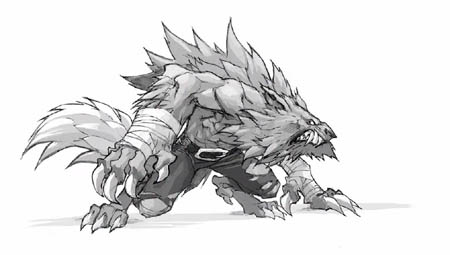 Lycelot early concept art for Battle Chasers Nightwar game (Pencil)