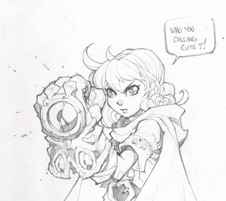 Battle Chasers NightWar Gully sketch (Pencil)