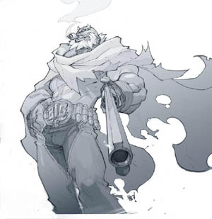 Cannon Busters Big Bull concept art