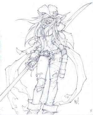 Cannon Busters Tiephoyd concept art (Pencil)