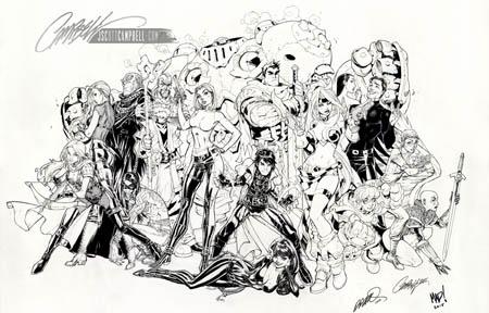 Cliffhanger Reunion Prints New York Comic con 2015 (Ink)