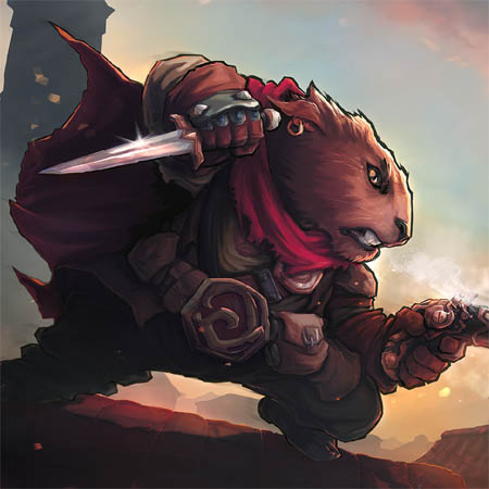 "Crowfall ""Mad Duelist"" promo art (Color)"