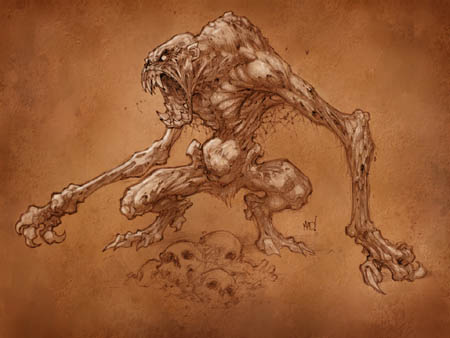 Darksiders Bone Harvester concept art (Color)