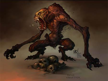 Darksiders Bone Harvester concept art (Other)