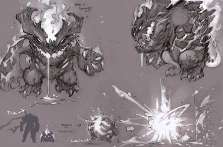 Darksiders Fleamag monster concept art (unused) (Texture)