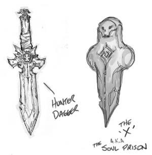 Darksiders Hunter props (cutscene) concept art (Pencil)