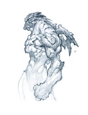 Darksiders Phantom Guard concept art (Pencil)